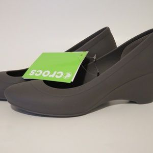 5de269b8136 crocs Shoes - Crocs Lina Wedge Espresso Pump Women s Size ...